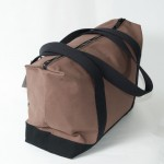Zip Top Shopper - Brown and Black