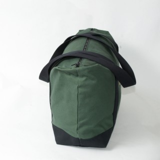 Zip Top Shopper - Olive and Black