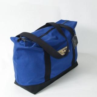 Zip Top Shopper - Royal  Blue and Black