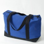 Zip Top Shopper - Royal  Blue and Black