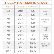 Tilley Size Chart