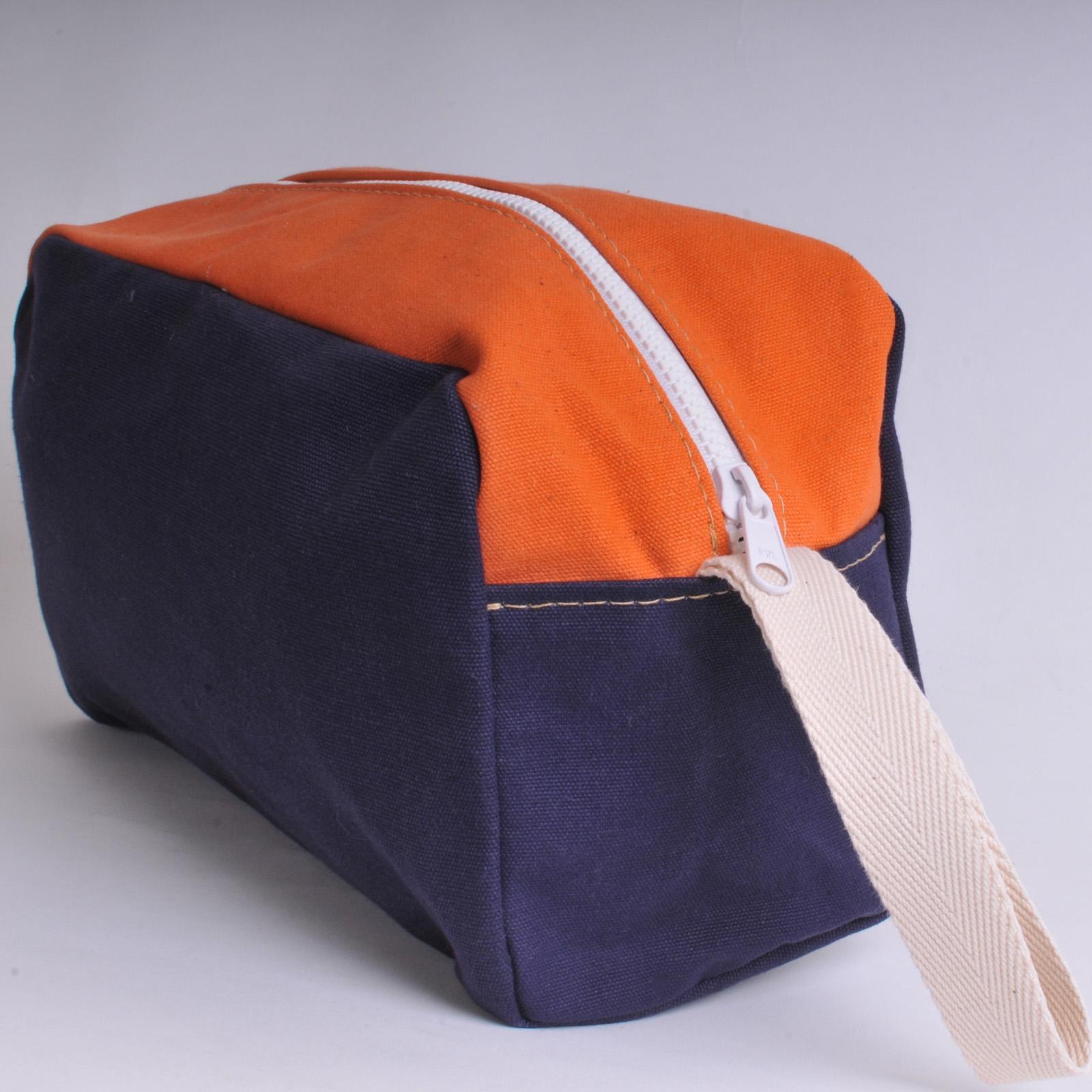 Washbags Wash Bag Navy Blue And Orange